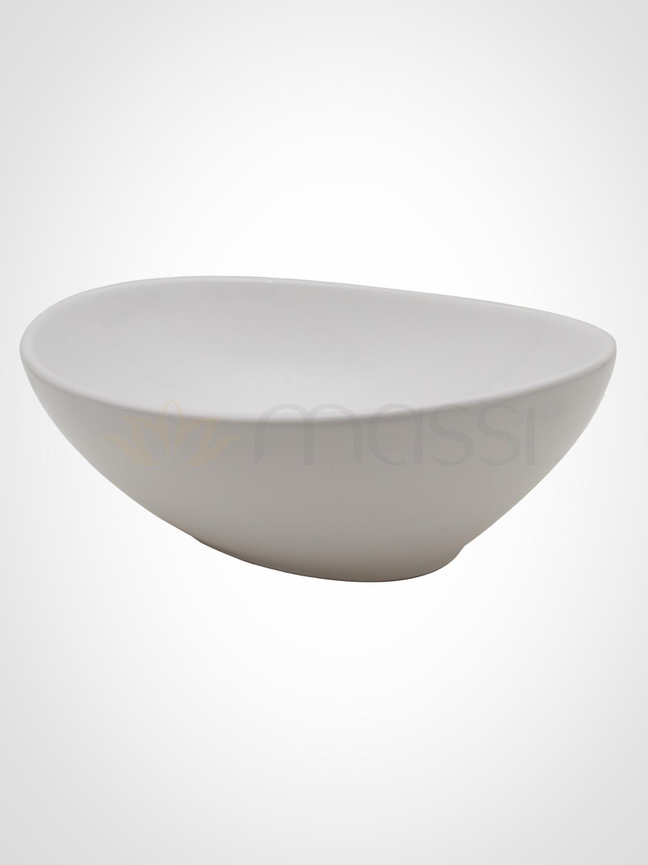 Oval Okrągła Umywalka Nablatowa Stylowa łazienka